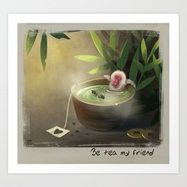 Sauna Monkey Art Print