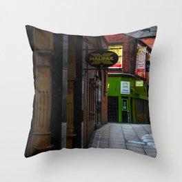 An alleyway in Leeds (UK) Throw Pillow