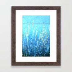 Blue Grass Framed Art Print