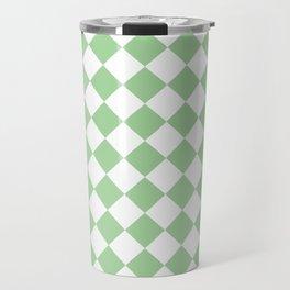 Mint Diamond Pattern Travel Mug