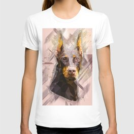 Doberman (Low Poly) T-shirt