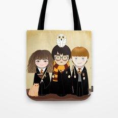 Kokeshis Hermi, Harry and Ron Tote Bag