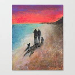 Beach Walkers Canvas Print