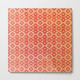 orange tie dye small repeat Metal Print