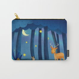 Forest Animals At Night Carry-All Pouch