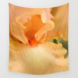 Bearded Iris Orange Harvest Wall Tapestry