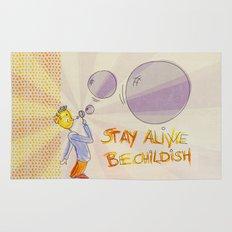 STAY ALIVE BE CHILDISH III Rug