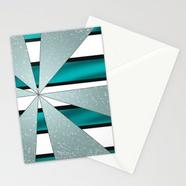 4Shades Glass: Blue B/W Reverse Stationery Cards