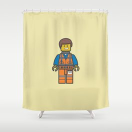 #10 Emmet Lego Shower Curtain