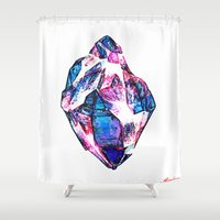 mineral Shower Curtains featuring Mineral by arnedayan
