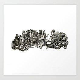 floating/sinking ii Art Print