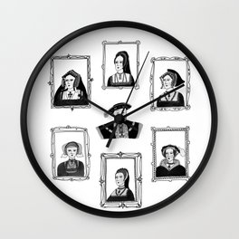 Henry VIII and his wives Wall Clock