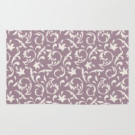 Decorative Pattern in Light Lavender an Cream Rug