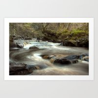 cassia beck Art Prints featuring West Beck, Goathland by Martin Williams