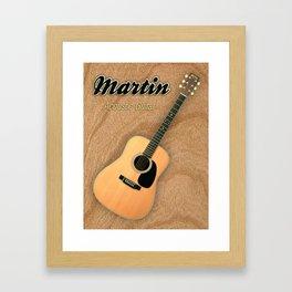 Wonderful Martin Acoustic Guitar  Framed Art Print