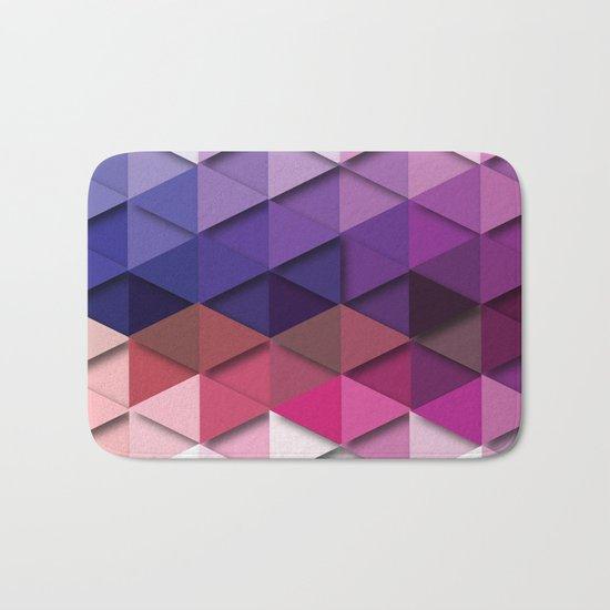 Purple Vs. White Bath Mat