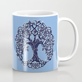 Tree of Life Blue Coffee Mug