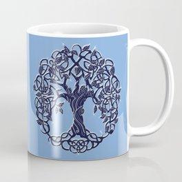 Tree of Life Blue Coffee Mug