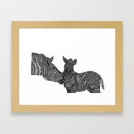 mama stripes and her bub Framed Art Print