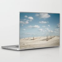 north carolina Laptop & iPad Skins featuring North Carolina - Beach by Jon Cain