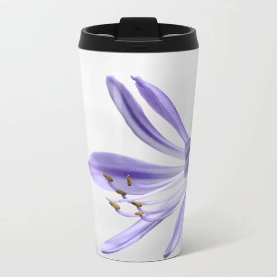 purple lily Metal Travel Mug