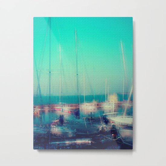 Sailing Harbor at Lake Balaton Metal Print