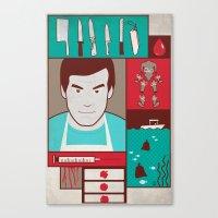 dexter Canvas Prints featuring Dexter by Josè Sala