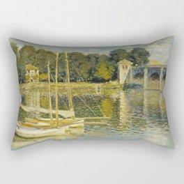 Claude Monet  -  Le Pont Dargenteuil Rectangular Pillow