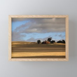 Rural Landscape and Farmhouse in Australia Framed Mini Art Print