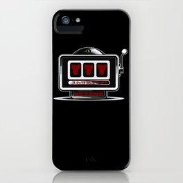 Jackpot Sevens Slots concept logo graphic iPhone Case