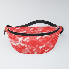 A bright cluster of red bodies on a light background. Fanny Pack