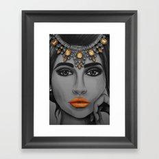 Tangerine Sky Goddess - by Ashley-Rose Standish Framed Art Print