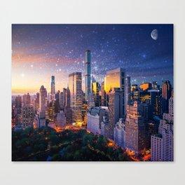 New York City - Fantasy Sunset Canvas Print