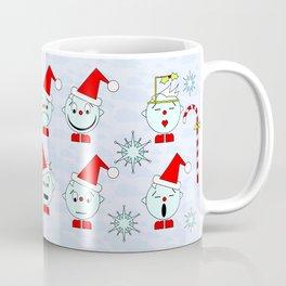 Funny Christmas faces Coffee Mug