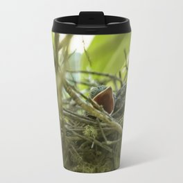 Hungry Newborn Steller's Jays Travel Mug