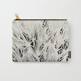 H. Fasciata Succulent Black White Print Carry-All Pouch