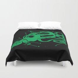Green Mask Duvet Cover
