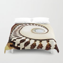 Spiral staircase in warm colours Duvet Cover