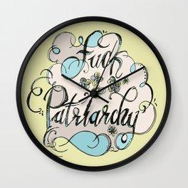 Fuck Patriarch Wall Clock