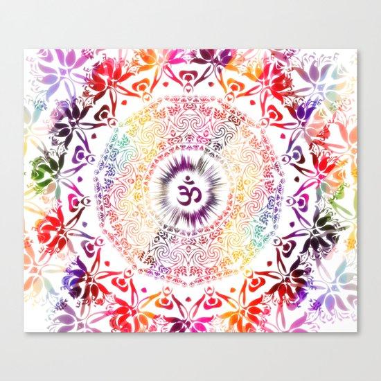 Radiant Om Mandala Canvas Print