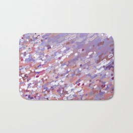 Violet Wave Reflections Bath Mat