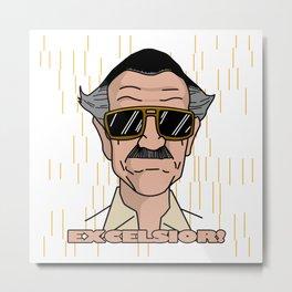 Excelsior - Stan Lee Metal Print