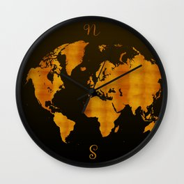MODERN GRAPHIC ART World Map |  Redgold Wall Clock