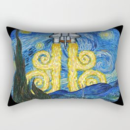 Starry Space Shuttle Rectangular Pillow
