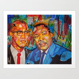 Malcolm X King Art Print
