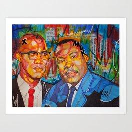 Malcolm X King Art Print
