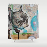 emma watson Shower Curtains featuring Watson by Jax Quackenbush