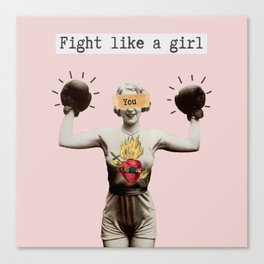 Fight like a Girl Canvas Print