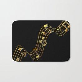 Golden Music Notes Bath Mat