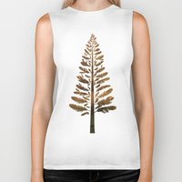 arya Biker Tanks featuring Feather Tree in warm colours by Hinal Arya